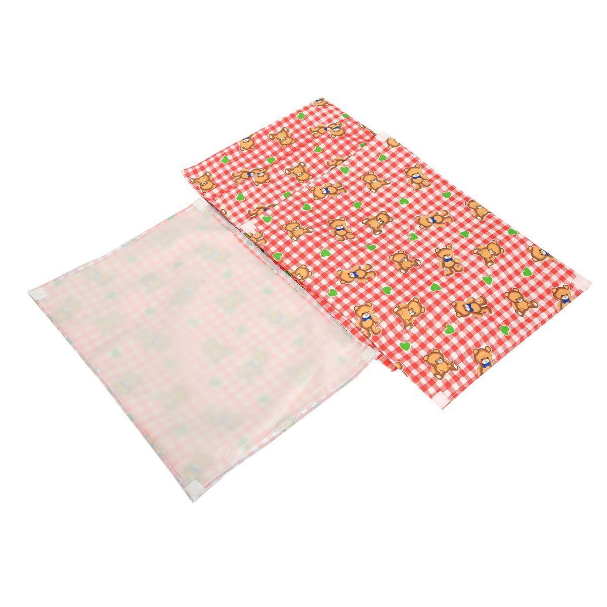 Kuber Industries™ Baby Waterproof Sheets,Baby Changer Sheet Plastic & Cotton Foam Cushioned Sleeping Mat & Changing Mat (1+3) (Printed) - KUB416
