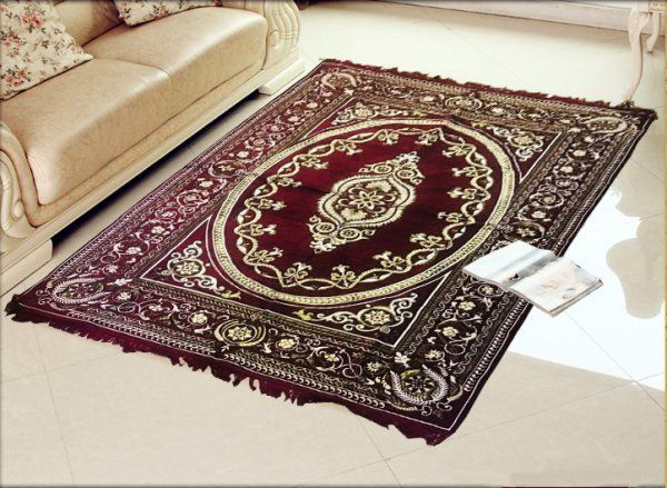 Kuber Industries Home Premium Living Room Velvet touch Carpet Rug -(84*54 Inches , Maroon) CA-01