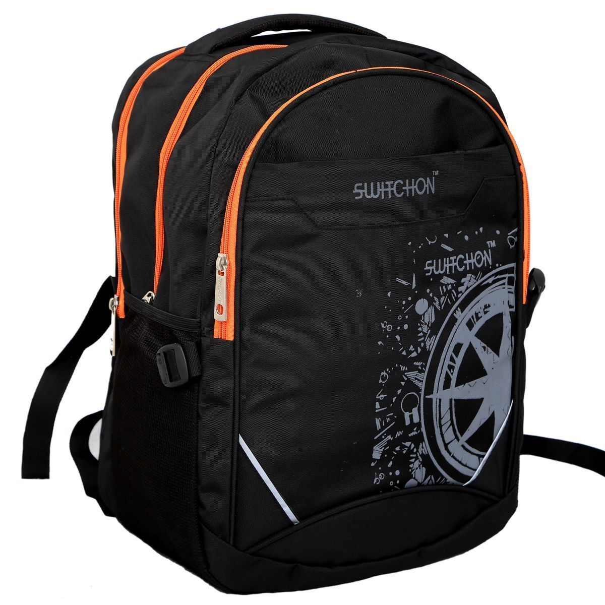 Kuber Industries Stylish 30 Ltrs College Bag, Casual Daybag Backpack (Black) - KI9026