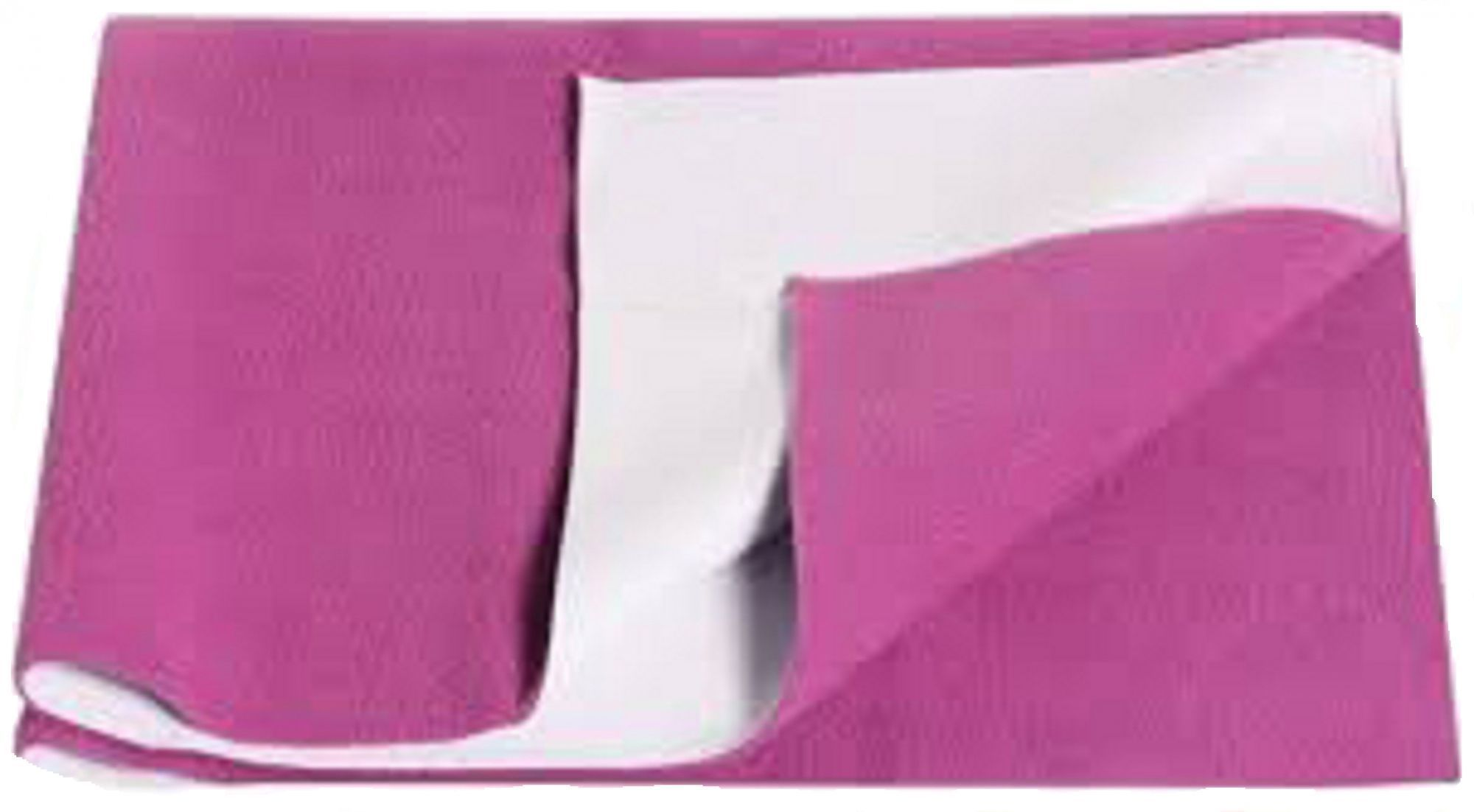 "Kuber Industriesâ""¢ Waterproof Baby Bed Protector, Dry Sheet, Reusable Mat Large Size 100*70 Cm (Pink) KI07021"