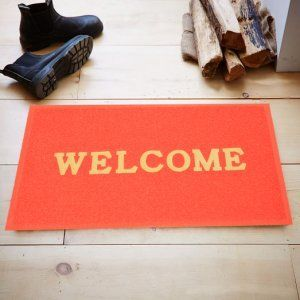 Kuber Industries™ Dirt Rubb Off Clean Footwear PVC Welcome Doormat for Offices,Hotel ,Restaurant, Home,Shop Color-Red Size : 75 cm x 45 cm x 1 cm