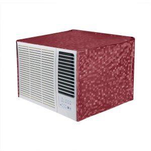 Kuber Industries PVC 1 Pieces  Window AC Cover for 2 Ton Capacity (Maroon)