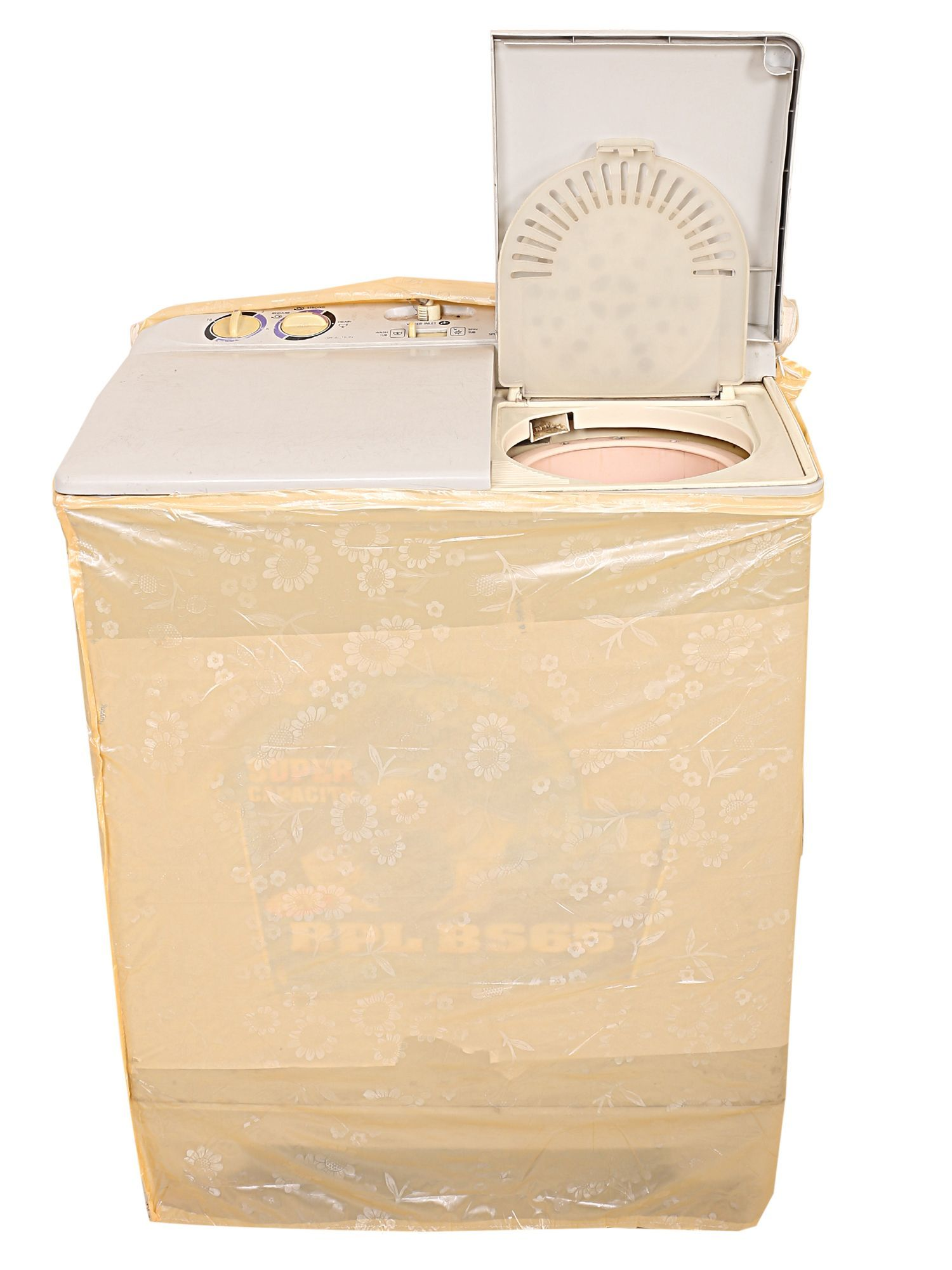 Kuber Industries Top Load Semi Automatic Washing Machine Cover (Peach)