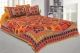 Kuber Industries Cotton 144 TC Double Bedsheet with 2 Pillow Covers (Multi)Leaf Design