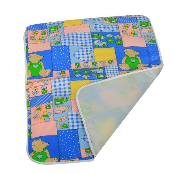 "Kuber Industriesâ""¢ Baby Waterproof Sheets Plastic & Cotton Foam Cushioned Sleeping & Changing Mat - Set of 2"