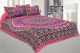 Kuber Industries Cotton 144 TC Double Bedsheet With 2 Pillow Cover (Pink)