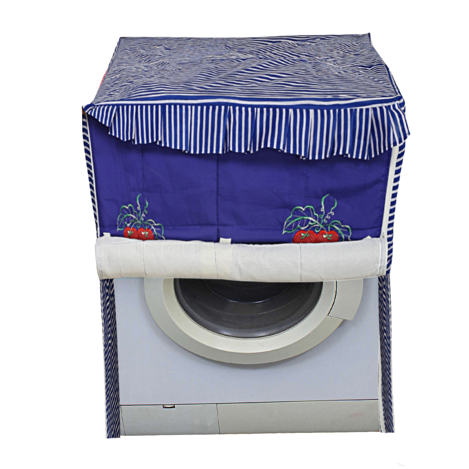 Kuber Industries Cotton Front Load Fully Automatic Washing Machine Cover (Blue)