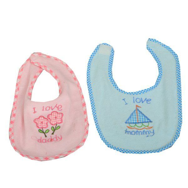 "Kuber Industriesâ""¢ Beautiful Printed Velcro Baby Bib (Pack of 2 ) - Design And Color May Vary - KUB373"