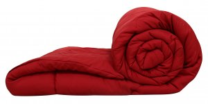 Kuber Industries Microfibre Reversible Double Bed Comforter (Red),King Size-CTKTC3844