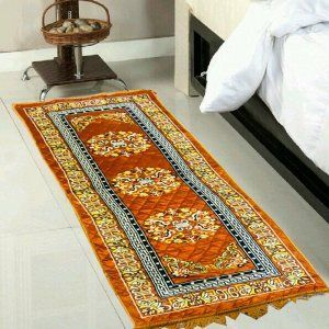 Kuber Industries Bed Side Runner,Floor Runner,Kitchen Mat In Velvet Material Set of 3 Pcs  (6*2 Feet) (Code-01)