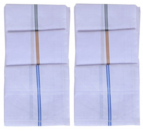 Kuber Industries Cotton 6 Pieces Handkerchief set (White)