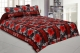 Kuber Industries Cotton Double Bed Sheet with Two Pillow Covers -  Red