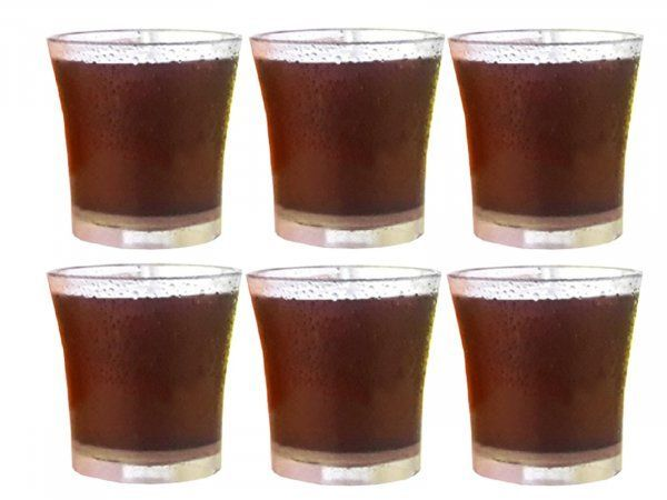 Kuber Industries Unbreakable Drinking Glass Set Of 6 Pcs /Abs Poly Carbonate Plastic/Clear Glass/ Tumbler/Water Glass (Unbreakable) Code-001