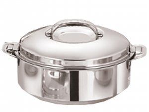 Kuber Industries Casserole/HotPot,chapati box/chapati container/hot case in Stainless Steel 4000 ML  (Cass46)