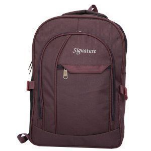 Kuber Industries 30 Ltrs School Bag Backpack (Wine) - KI9039