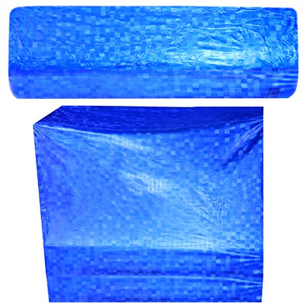 Kuber Industries PVC 2 Pieces Split Indoor & Outdoor AC Cover for 1.5 Ton Capacity (Blue)