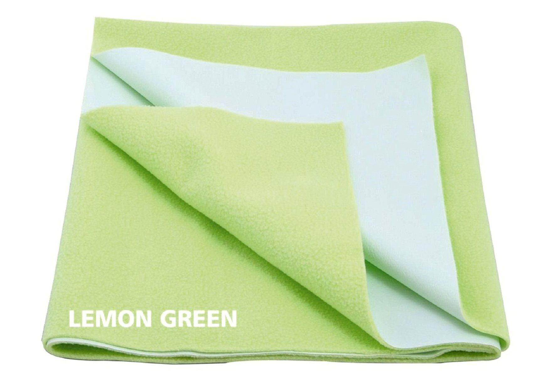 "Kuber Industriesâ""¢ Waterproof Baby Bed Protector, Dry Sheet, Reusable Mat Large Size 100*70 Cm (Lemon Geen) KI07016"