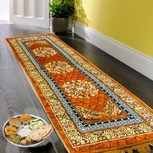 Kuber Industries Bed Side Runner,Floor Runner,Kitchen Mat In Velvet Material Set of 2Pcs  (6*2 Feet) (Code-01)