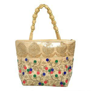 Kuber Industries™ Women Stylish Handbag Fully Laminated (Traditional Design), Green - BG20