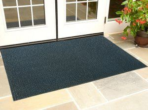 Kuber Industries™ Dirt Rubb Off Clean Footwear PVC Thick Doormat for Offices,Hotel ,Restaurtaurant,Home,Shop Color- Black  (Extra Large) Size : 90 cm x 60 cm x 1.5 cm