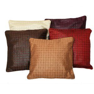 "Kuber Industriesâ""¢ Imported Fabric Cushion Cover 16*16 Inches - Set of 5 Pcs (Multi)KU113"