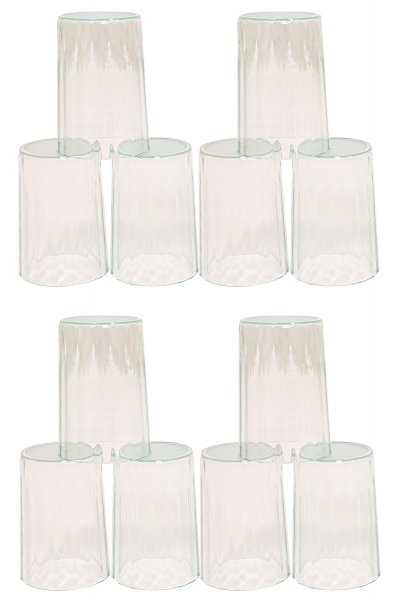 Kuber Industries Plastic Unbreakable Transparent Drinking Glass set of 12 Pcs