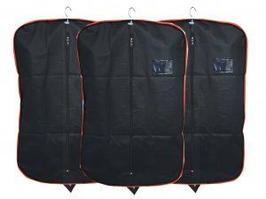 Kuber Industries™ Men's Coat Blazer cover Foldover Breathable Garment Bag Suit cover Set of 3 Pcs - Black
