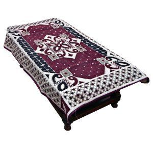 12ad1617c3e Kuber Industries™ Center Table Cover Maroon Cotton Fabric in Floral Design  40 60 Inches