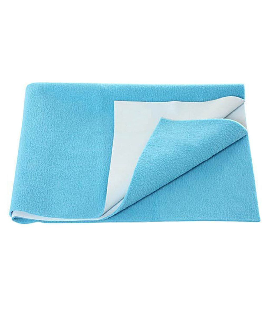 "Kuber Industriesâ""¢ Waterproof Baby Bed Protector, Dry Sheet, Reusable Mat Large Size 100*70 Cm (Sky Blue) KI07024"