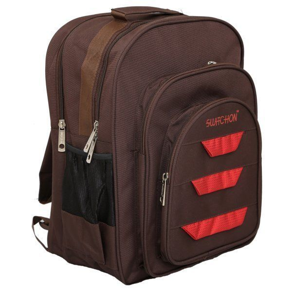 Kuber Industries 30 Ltrs School Bag, Backapack (Brown)-KI19038