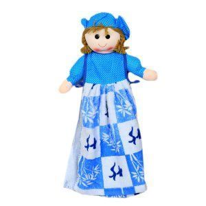 "Kuber Industriesâ""¢ Cute Doll Stiched with Washbasin Hand Towel For Kitchen & Bathroom,Multipurpose Towel (Both Side)(Assorted) - KI19575"