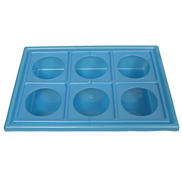 Kuber Industries Plastic Glass Holder Tray (Blue)-CTKTC1918
