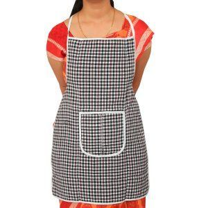 """Kuber Industriesâ""¢ Multicolor Cotton Checks Apron (Reversible & Can Use From Both Side) KU209 """