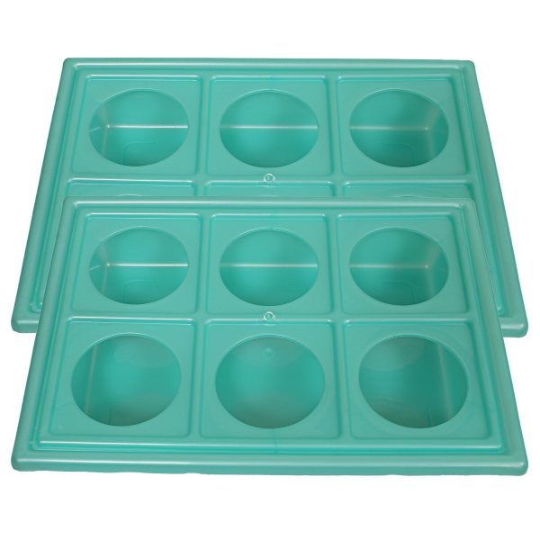 Kuber Industries 2 Pcs Plastic Glass Holder Tray (Green)-CTKTC1917