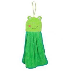 "Kuber Industriesâ""¢ Cute Frogie Washbasin Hand Towel For Kitchen & Bathroom,Multipurpose Towel (Assorted) - KI19580"