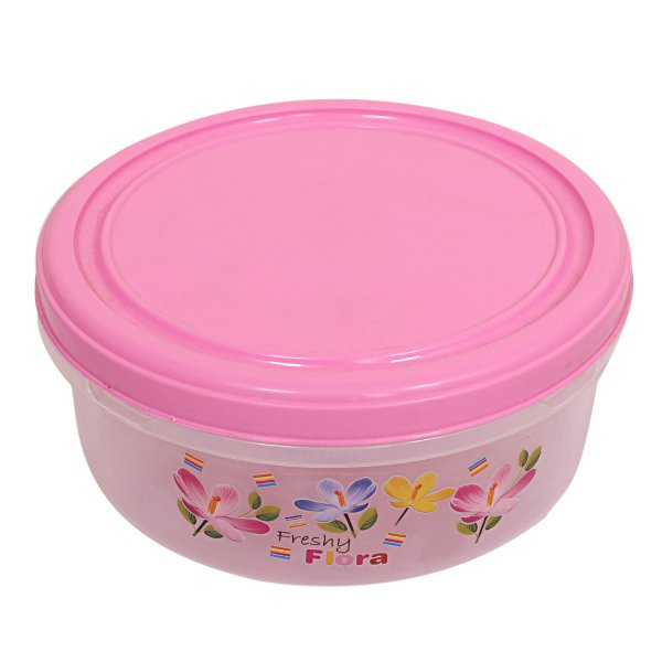 Kuber Industries Plastic Papad Box/Kitchen Container set of 1 Pc (Pink)