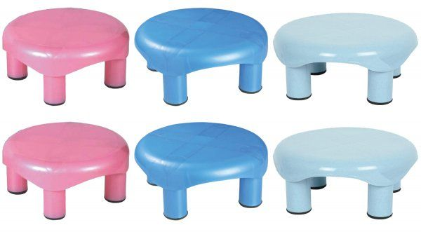 Kuber Industries Plastic Oval Bathroom Patla/Stool (Assorted) Set of 6 Pcs