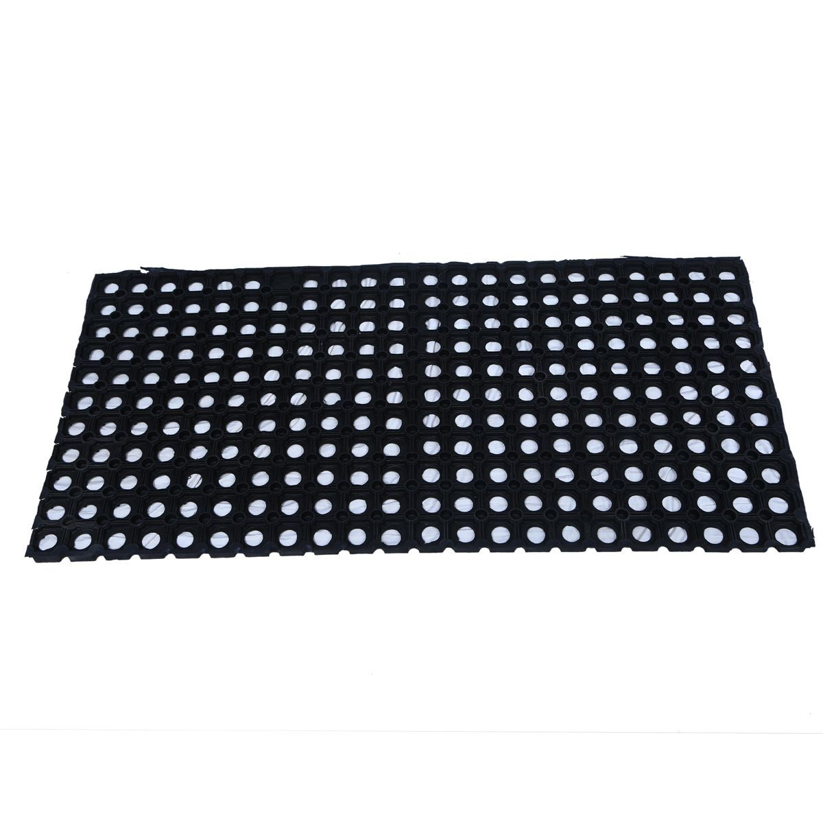 Kuber Industries™ Dirt Rubb Off Clean Footwear Thick Rubber Doormat for Offices,Hotel ,Restaurant, Home,Shop Color-Black (Extra Large Size : 100 cm x 52 cm x 2 cm)