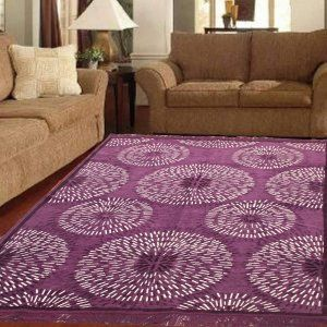 "Kuber Industries Velvet Carpet for Living Room ""60x84"" (Purple)"