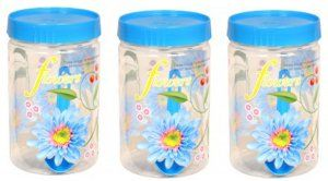 Kuber Industries Plastic 500 ml Kitchen Container set (Blue) Set of 3 Pcs