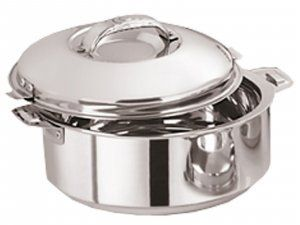 Kuber Industries™ Casserole/HotPot,chapati box/chapati container/hot case in Stainless Steel 3000 ML