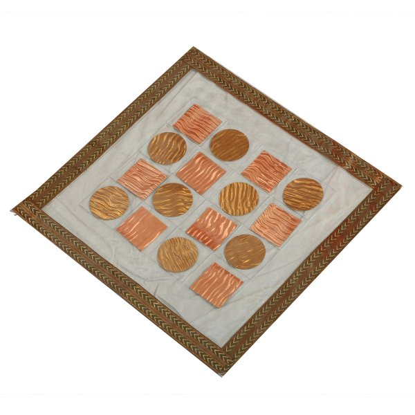 """Kuber Industriesâ""¢ Dining Table Place Mats Set of 6 Pcs in laminated Patch Design (Square 30 x 30 Cm) KU170 """