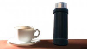 Kuber Industries™ Insulated Flask 6 hours Hot / Cold Mug, Water Beverage Cup, Travel Tumbler 650 ml, Grey (Flask06)