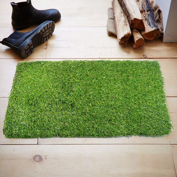 Kuber Industries™ 45 MM Arificial Grass For Floor, Soft And Durable Plastic Natural Landscape Garden Plastic Door Mat (60 cm x 38 cm x 1.5 cm) Grass0101