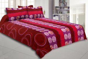 Kuber Industries Cotton Double Bed Sheet with Two Pillow Covers -  Multi