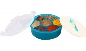 Kuber Industries Trueware Spice Masala Container (Green)-CTKTC3581