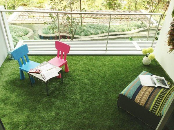Kuber Industries™ 45 MM Arificial Grass For Floor, Soft And Durable Plastic Natural Landscape Garden Plastic Mat (6.5X 4 FEET) In Thick Material (G06)