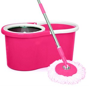 Kuber Industries 360 Degree Spin Mop with basket and Steel Spinner (Multi)-CTKTC1810