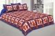 Kuber Industries Cotton 144 TC Double Bedsheet with 2 Pillow Covers (Blue)Dandiya Design