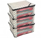 """Kuber Industries™ Non Woven Polka Dots Designer Saree Cover Set of 3 Pcs (Ivory) """